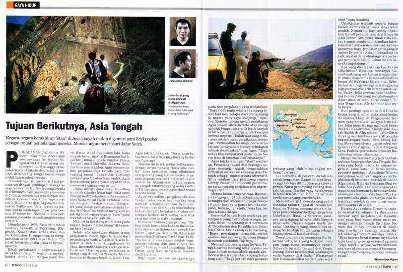 1105-Tempo-interview-TujuanBerikutAsiaTengah-Agustinus Wibowo