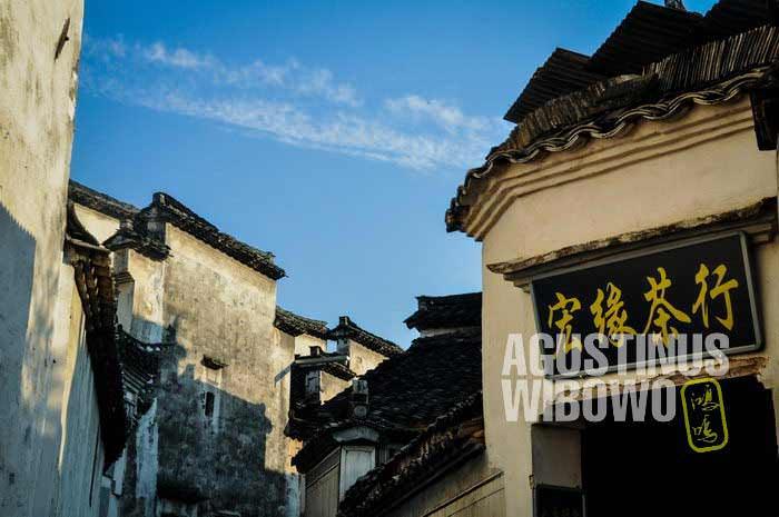 Arsitektur kuno menjadi daya tarik utama di Xidi dan Hongchun (AGUSTINUS WIBOWO)