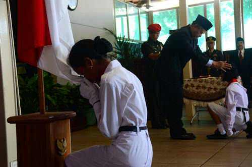 Photo: Tradisi Pasukan Pengibar Bendera