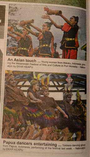 Photo: Delegasi Indonesia dalam Melanesian Festival