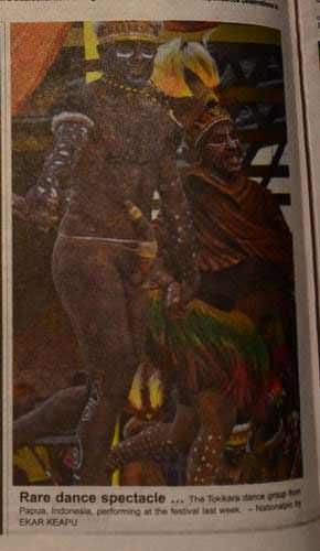 Photo: Tarian dari Tolikara, Papua Indonesia yang membuat heboh penonton Melanesian Festival