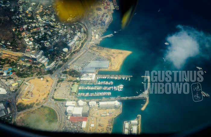 Port Moresby dari angkasa (AGUSTINUS WIBOWO)