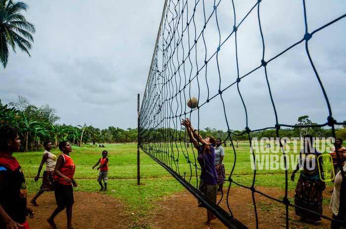 Perayaan utama kemerdekaan adalah bermain voli (AGUSTINUS WIBOWO)
