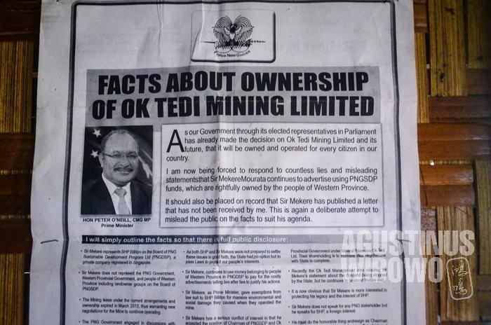 Perdana Menteri Peter O'Neill mengungkap kepbohongan di balik kasus pertambangan Ok Tedi