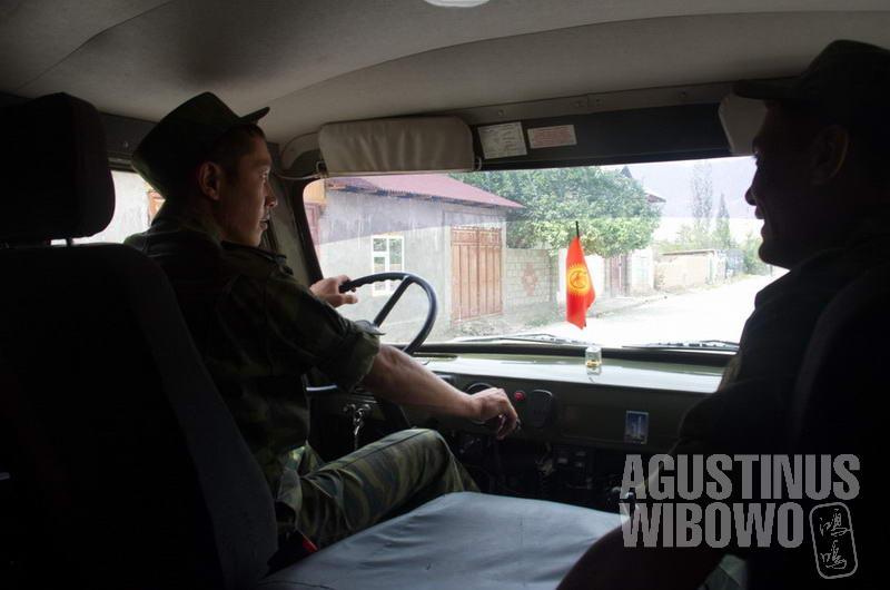 Berpatroli bersama militer Kirgizstan di Ak-Sai