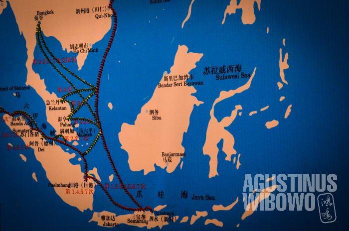 Rute Laksamana Cheng Ho yang menyusuri Jalur Sutra Maritim di abad ke-15