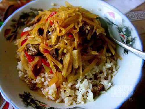 Ganfan, nasi Dungan, memperkaya khasanah kuliner Kyrgyzstan. (AGUSTINUS WIBOWO)