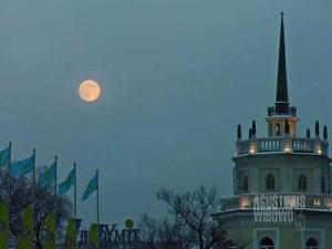 Almaty di waktu senja (AGUSTINUS WIBOWO)