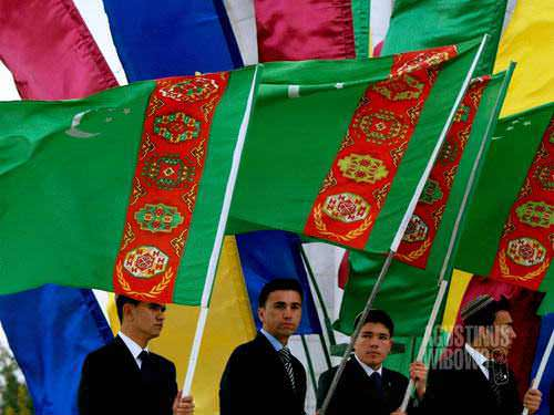 Bendera Turkmenistan, bendera tercantik di dunia (AGUSTINUS WIBOWO)