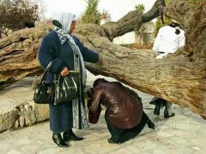'Ibadah' di makam Naqshabandi. (AGUSTINUS WIBOWO)