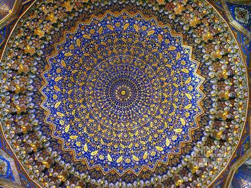 Langit-langit Masjid Tilla-Kari. (AGUSTINUS WIBOWO)