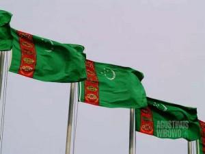 Bendera Turkmenistan (AGUSTINUS WIBOWO)