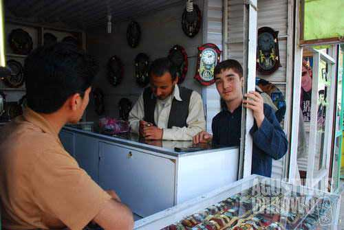 Busy Mazar street and business before the great holy day