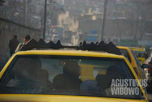 Kabul taxi, can be dangerous day or night