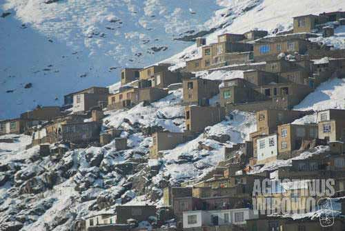 The mountainous capital is covered by snow