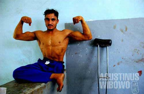 Bodybuilder from the warzone