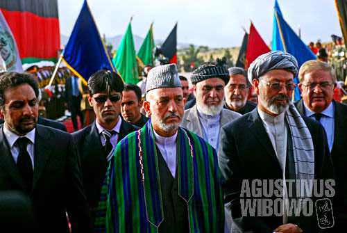 President Hamid Karzai and other Afghan senior officials