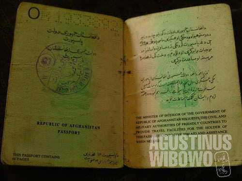 Inside an Afghanistan passport
