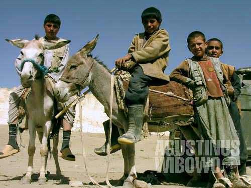 Children from the grassland