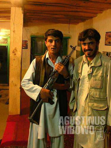 Don't be surprise to see guns. This is Afghanistan.