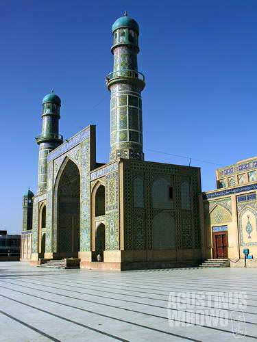 Herat's 800-year-old Friday Mosque (Masjid Juma) is among the best preserved Afghanistan's historical monuments.