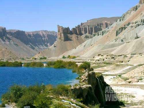 Band-e-Haibat lake is the holiest among the six majestic Band-e-Amir lakes. Legend says that the majestic deep blue lakes were created by the power of the Hazrat Ali, Ali bin Abi Thalib, the first Imam for the Shiites. Many Shiites (mostly Hazara Afghans) come to the lake for a dip to heal all of their diseases.