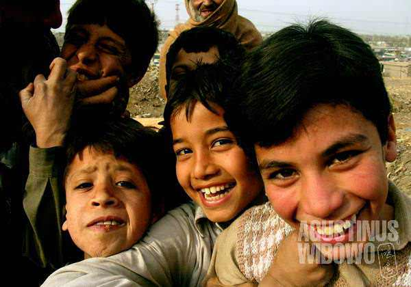 Happy faces of the slum
