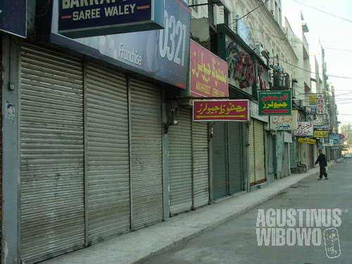 A demonstration day, a hartal day, means all shop and businesses and schools have to be closed