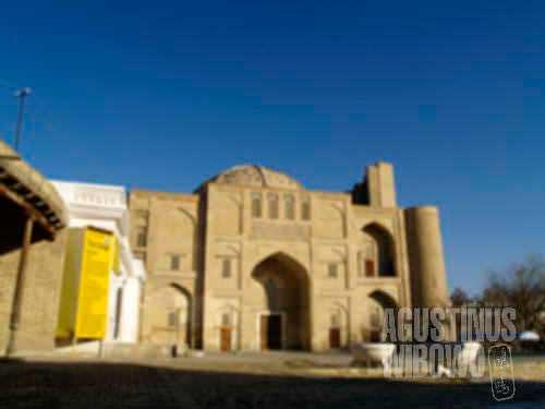 My blury photos of Bukhara reflect my blurry mood