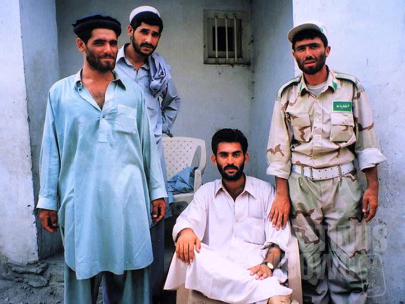 Para petugas keamanan perbatasan Afghanistan (AGUSTINUS WIBOWO)