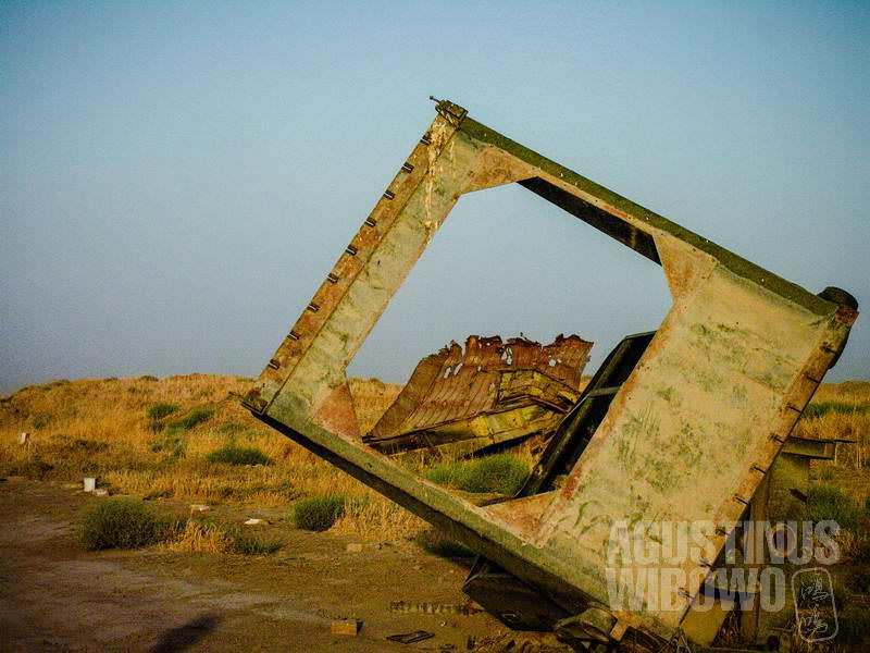 2.Rongsokan peralatan perang yang berserakan di Bala Hissar (AGUSTINUS WIBOWO)