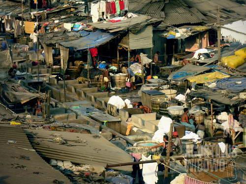 Pencucian dhobi ghat di Mahalaksmi (AGUSTINUS WIBOWO)