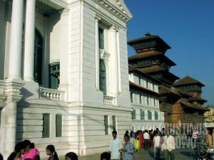 Lapangan Basantpur di dekat Hanuman Dhoka. (AGUSTINUS WIBOWO)