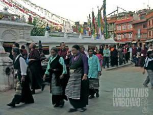 Komunitas pengungsi Tibet di Nepal cukup besar jumlahnya. (AGUSTINUS WIBOWO)