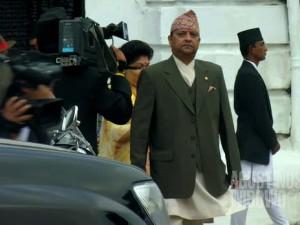 Raja Gyanendra dalam suatu festival keagamaan. (AGUSTINUS WIBOWO)
