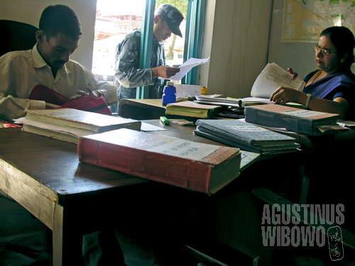 Ruang kerja kantor polisi Hanuman Dhoka. (AGUSTINUS WIBOWO)