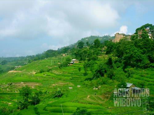 Gorkha, alamnya seperti Indonesia. (AGUSTINUS WIBOWO)