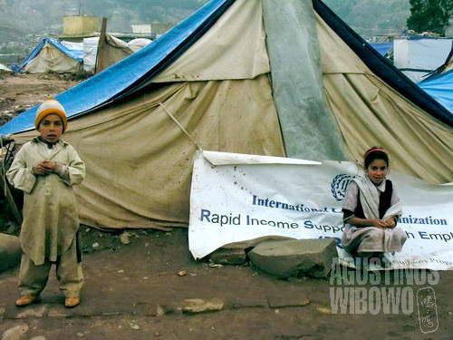 Bocah-bocah pengungsi  (AGUSTINUS WIBOWO)