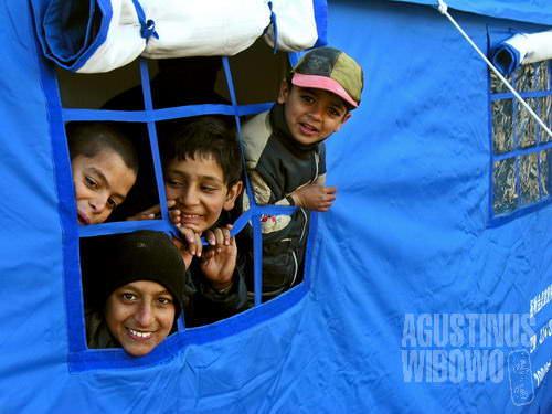 Sekolah tenda (AGUSTINUS WIBOWO)