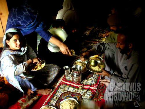 Suguhan nasi biryani selepas pengajian (AGUSTINUS WIBOWO)