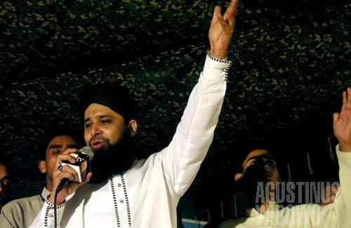 Owais Qadri, superstar naat Pakistan (AGUSTINUS WIBOWO)