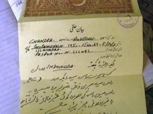 Surat izin yang ditandatangani pedagang amplop, ternyata juga berkekuatan hukum (AGUSTINUS WIBOWO)
