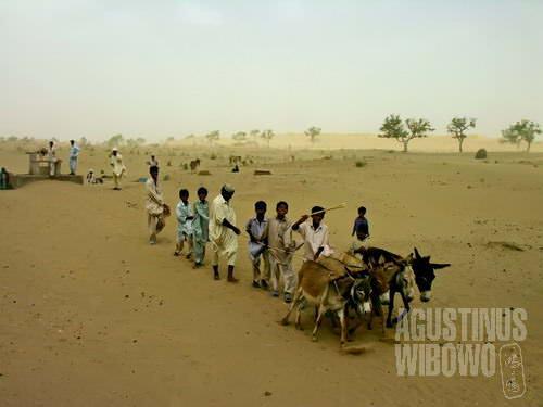 Ramai-ramai menimba air  (AGUSTINUS WIBOWO)